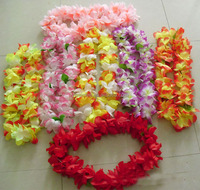 2014 Yiwu Aimee hotsale hawaiian silk flower leis ,hawaii flowers necklace(AM-HW01)