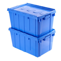 big size heavy duty hinged lids plastic moving tote boxes