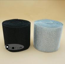 Hot sell 24rows Diamond Mesh Trim Wrap Cake Roll Rhinestone Ribbon Wedding Party Decorations/Diamond Wrap DH-PM001