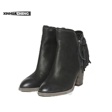 China factory hot sale genuine leather high heel boots
