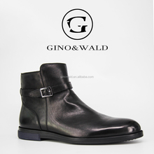 GINOWALD genuine leather high neck formal ankle dress shoes men