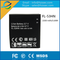 Genuine 1 year warranty Original 1500mAh Rechargeable Battery FL-53HN For LG