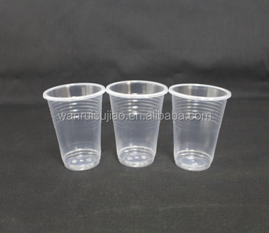 7oz pp clear plastic fruit cups container , beer pong cup