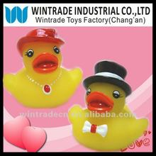 Valentine bath duck set