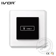 European Style Chrome Plated digital timer switch wall switch led controller
