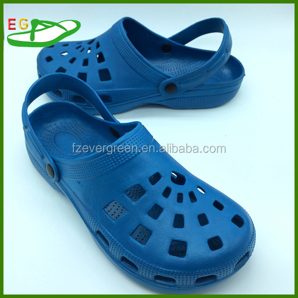 2015 China EVA Men's Garden Clogs Size 45 EGA0401-01Blue Colour Umbrella Type Mold