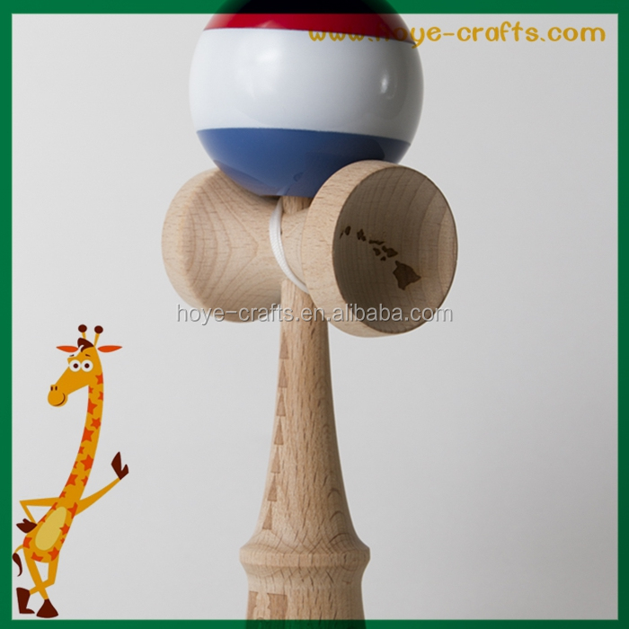 wooden wholesale tree strips the classic kendama toy