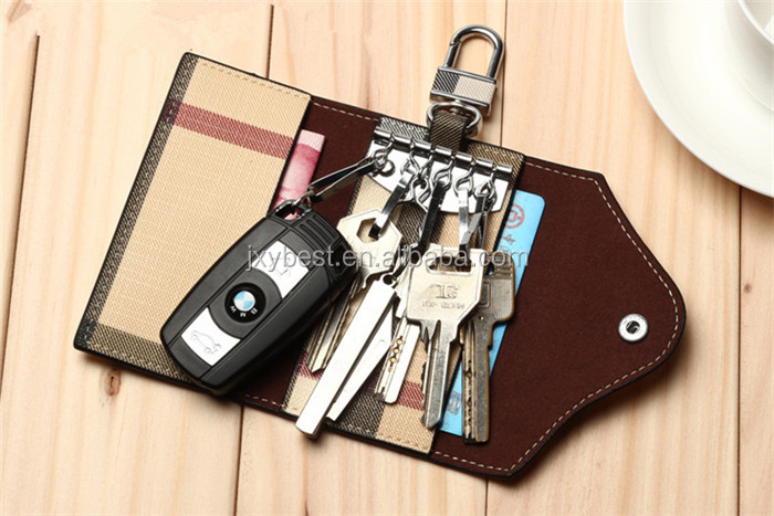 2016 New Custom Durable Multi-function genuine leather key bag card holder purse bag
