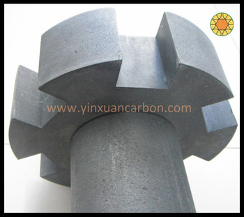 anti-oxidation graphite rotor and shaft