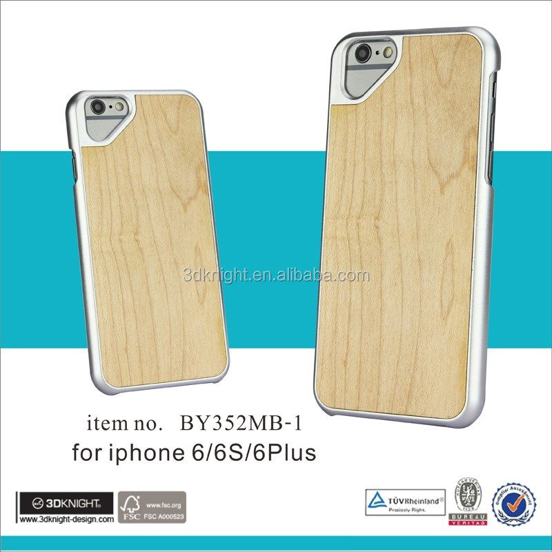 Dongguan factory blank back wooden case for iphone6 6s