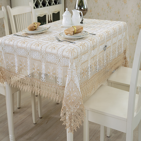 Wholesale home decoration or superior hotel applicable tablecloth