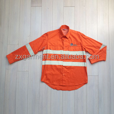 2016 Zx Construction Orange Work Shirts Mechanic Work