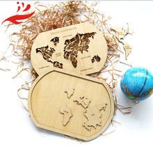 new design wooden world map kids wold map