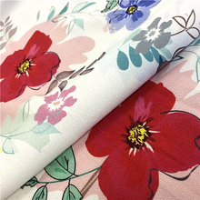 Digital printed 100% viscose rayon crepe fabric for garment