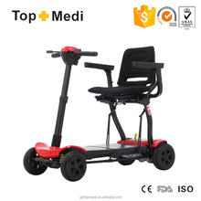 Topmedi TEW128 light weight Automatic folding electric mobility scooter for adult