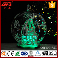 Christmas nativity led glass decor