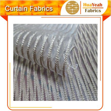 100%polyester bronzing striped sheer curtain organza fabric roll