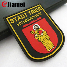 Eco-friendly rubber/silicon/soft pvc 3D patch military patches label