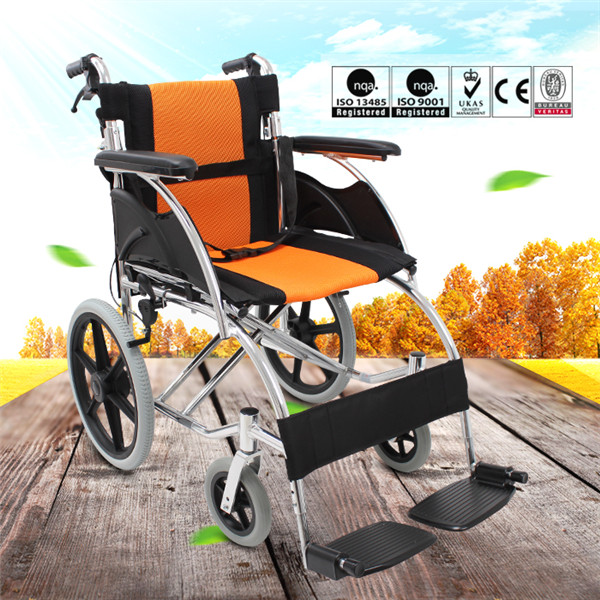 Maidesite small wheels ultra lightweight folding wheelchair for sale