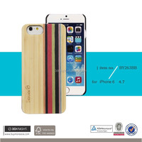 Factory OEM ODM Mix Colored Wood Custom Hard Back Natural Bamboo Cover for iPhone 6, for iPhone 6s Bamboo Case, Bamboo PC Case