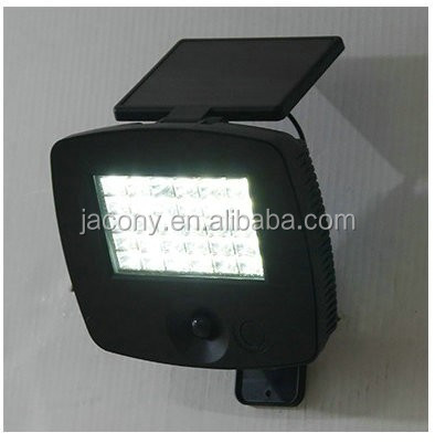 30 LED Solar PIR Flood Light for garage,patio (JL-3536)