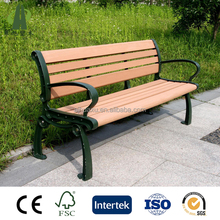 Wholesale China manufacturered composite wood wpc outdoor kids park bench