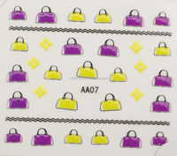 2014 Hot New Girls fashion decal art 3D Nail Sticker custom nail decals