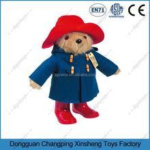 ICTI/BSCI/GSV factory stuffed plush toy animal plush bear standing with hat