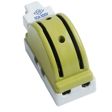 Single Throw Electric Brake Safety Closing Switch, Porcelain Knife Switch