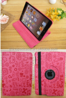 HOT 2014 Fashion For Apple for New iPad mini Case Pu Leather Cute Cover Case for New iPad mini Lovely Sweet Magic Girl