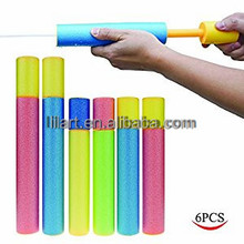 Promotional summer foam mini water gun and eva pressure water pump toy for kids game