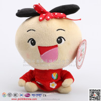 Cute wholesale plush rag doll with small body and big head for girls