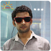 Ray-ban led sunglasses Led DJ Bright Light EL Wire Glow Sun Glasses