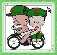 Bicycle lover cartoon style embroidery schemes free pattern online cross stitch retailers