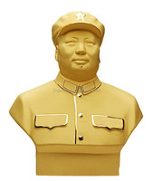 brass Chairman Mao statue,chinese famous figure sculpture