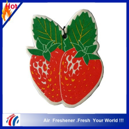 2016 hot selling hemp rope hanging paper car air freshener