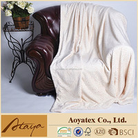 100% polyester 2 ply diamond royal mink blanket