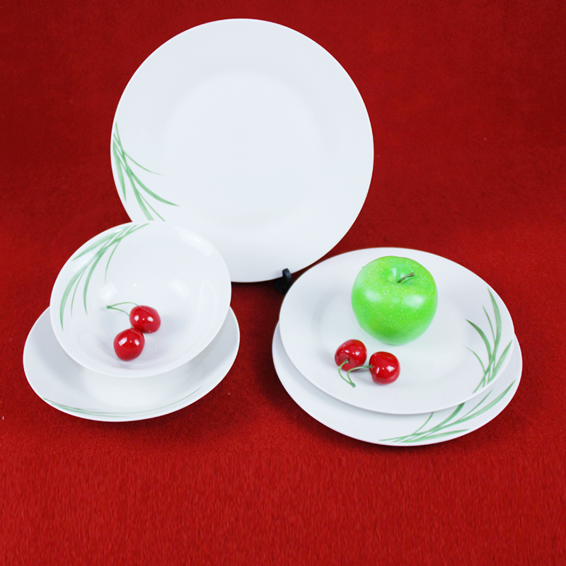 18pcs household ceramic plate dinner set/white ceramic dinner set