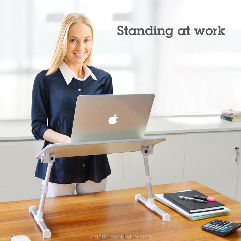 Hot sale lap desk foldable laptop stand clamp with cooling fan