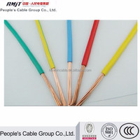 cooper or aluminum conductor PVC insulated electric wire