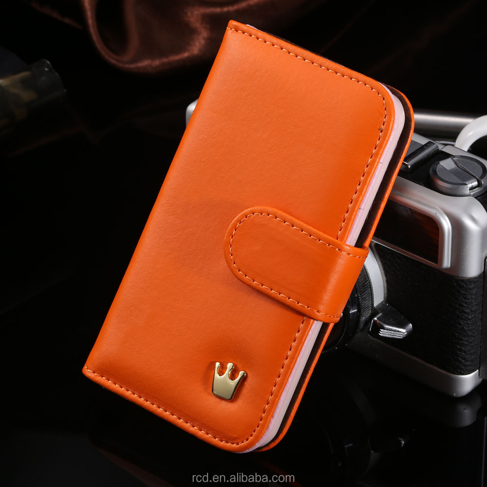 Leather Wallet Cover For IPhone 4S 4 Card Pouch Case For IPhone 4S 4 Photo Book Case For IPhone 4S 4 RCD02005