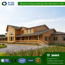 Economic project bamboo prefabricated house for building company