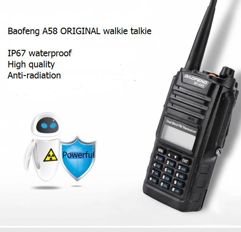 Baofeng Radio Transceivers VHF UHF A58 Handheld Walkie Talkies