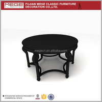 Unique Design Round Wood Display Table For Clothes