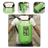 Free shipping 20L Liters Waterproof Dry Bag with shoulder strap