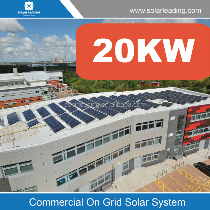 High-efficiency 20kW On Grid Solar for commercial solar power solution solar photovoltaic power generation