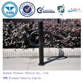 safe O-ring pole mounted bike rail