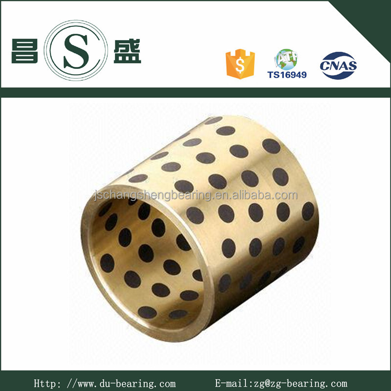 ISO 3547 Standard Oil Free Cast Bronze Graphite Guide Bushing