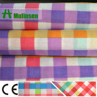 T/C Printed Polyester Cotton Check Shirt Fabric
