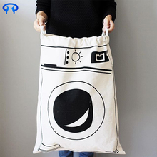 hotel using extra large cotton cloth laundry bags washing bag